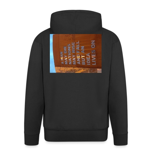 An Idea Lives On - Men's Premium Hooded Jacket