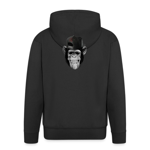 Logo Crazy Monkey - Felpa con zip Premium da uomo