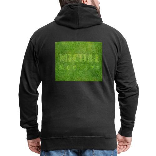 trawa - Rozpinana bluza męska z kapturem Premium
