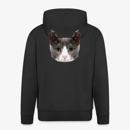 Triangle Cat - Men's Premium Hooded Jacket