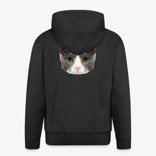 Triangle Cat - Men's Premium Hooded Jacket