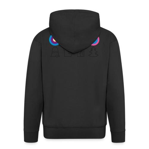 psychedelische Weihnachten x-mas Christmas - Men's Premium Hooded Jacket