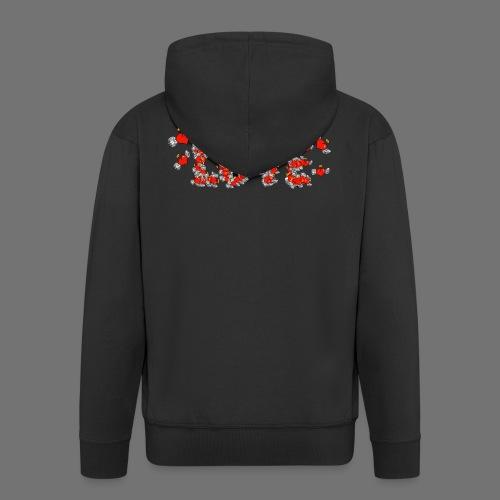 Latające miłości serc - Rozpinana bluza męska z kapturem Premium