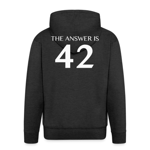The Answer is 42 White - Men's Premium Hooded Jacket