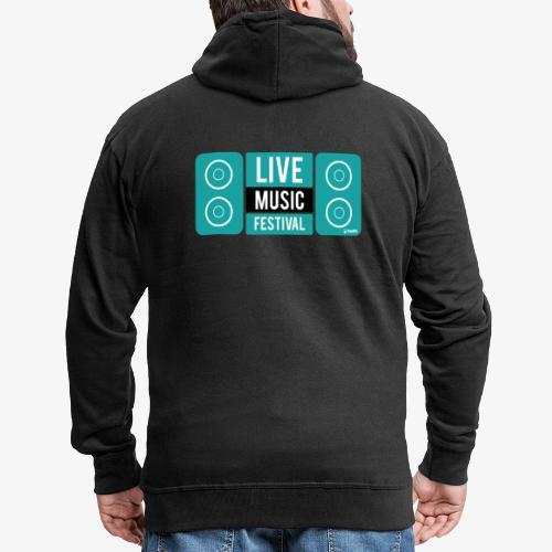 Amo la música - Chaqueta con capucha premium hombre