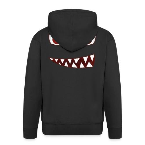 smiling devil emoticon grinning red demon - Männer Premium Kapuzenjacke
