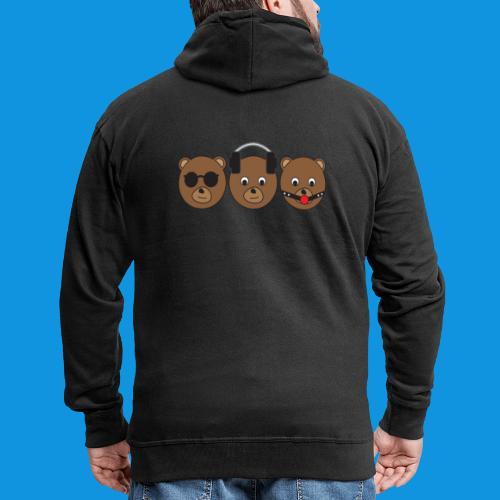 3 Wise Bears - Men's Premium Hooded Jacket