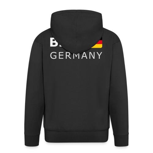 BER GERMANY GF white-lettered 400 dpi - Men's Premium Hooded Jacket