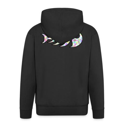 fish legs in rainbow colors - Men's Premium Hooded Jacket
