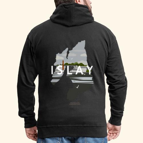 Islay Vintage Travel Poster - Männer Premium Kapuzenjacke