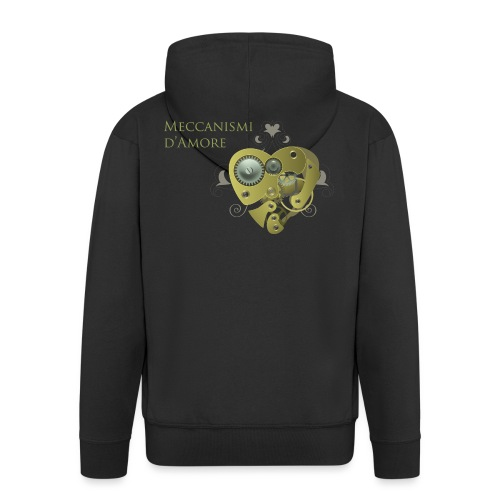 meccanismi_damore - Felpa con zip Premium da uomo