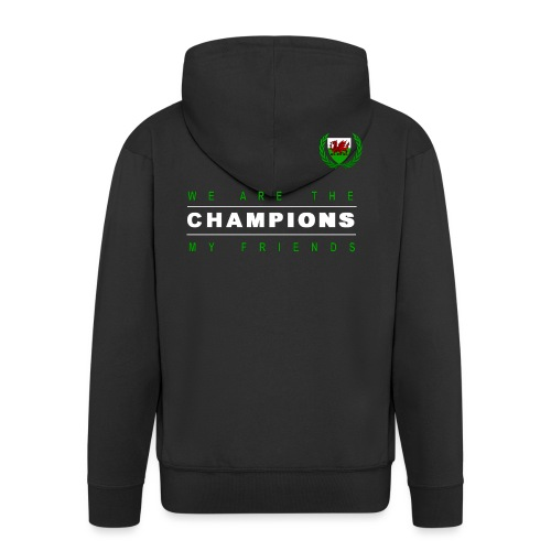 Wales Champions men red+green - Men's Premium Hooded Jacket