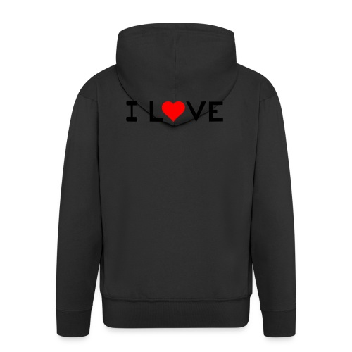 I love - Men's Premium Hooded Jacket