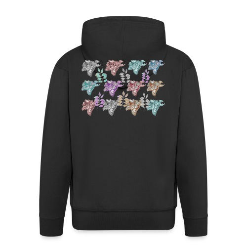 floral pattern - Men's Premium Hooded Jacket
