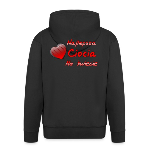 nadruk_rodzinne06 - Rozpinana bluza męska z kapturem Premium