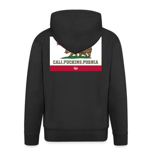California, Californiano, Fuck, Orso - Felpa con zip Premium da uomo