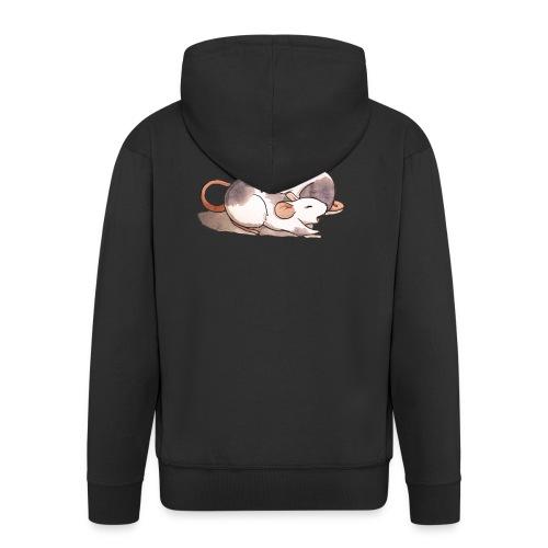 Mice cuddling - Men's Premium Hooded Jacket