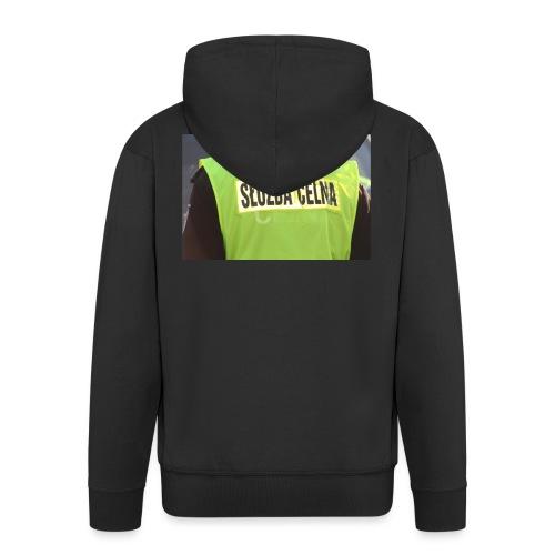 policja - Rozpinana bluza męska z kapturem Premium