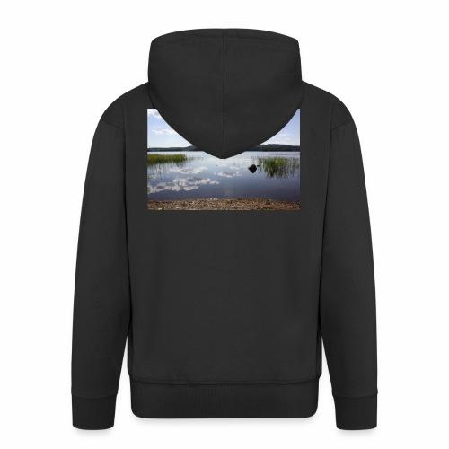 landscape - Men's Premium Hooded Jacket