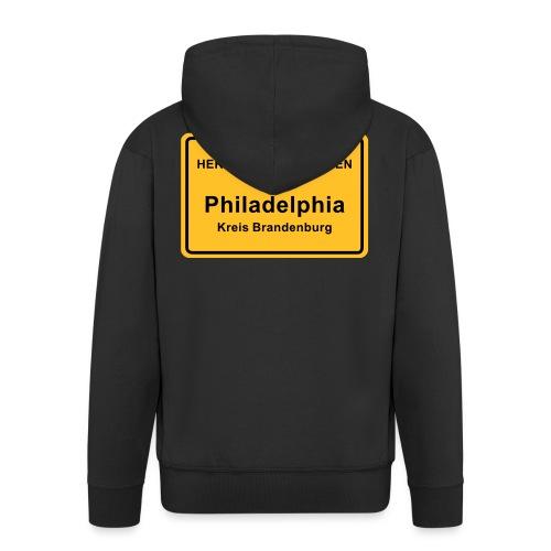 Ortsschild Philadelphia - Männer Premium Kapuzenjacke