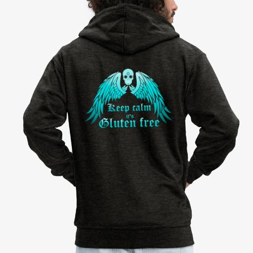 Keep calm it's Gluten free - Men's Premium Hooded Jacket