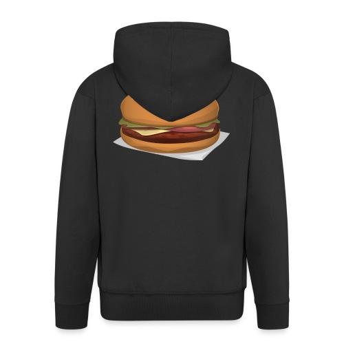 hamburger-576419 - Felpa con zip Premium da uomo
