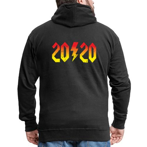 2020 rockiges Jahr - Männer Premium Kapuzenjacke