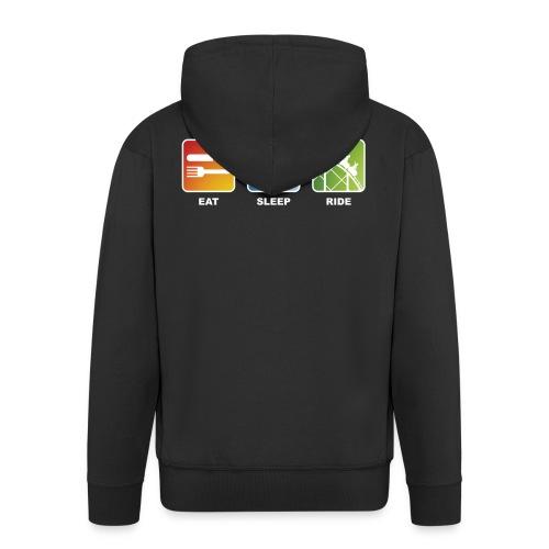 Eat, Sleep, Ride! - T-Shirt Schwarz - Männer Premium Kapuzenjacke