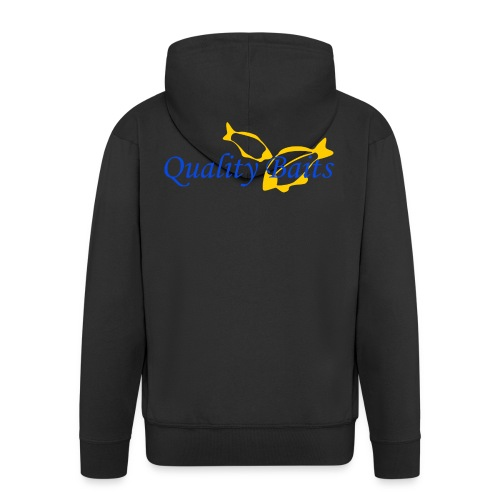 Quality Baits Logo - Men's Premium Hooded Jacket