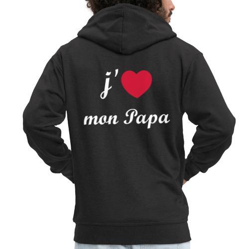 J'aime mon papa - 01 Vecto - Veste à capuche Premium Homme