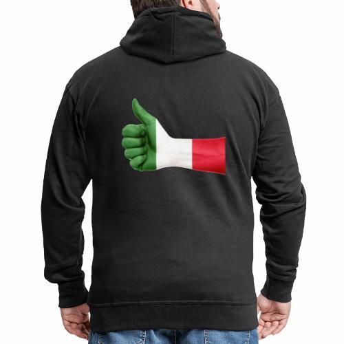 Italienische Flagge auf Daum - Männer Premium Kapuzenjacke