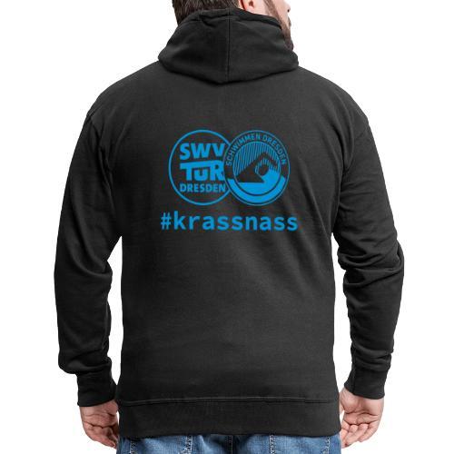 SWV TuR Dresden Abteilung Schwimmen #krassnass - Männer Premium Kapuzenjacke