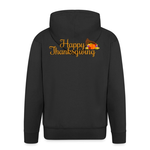 Happy Thanksgiving Words - Men's Premium Hooded Jacket