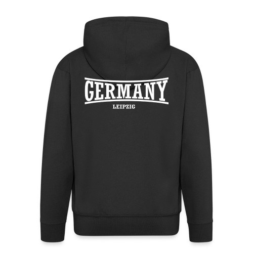 germany-leipzig-weiß - Männer Premium Kapuzenjacke