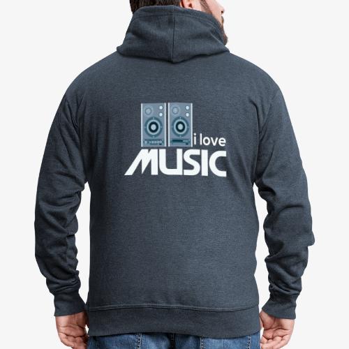Amo la música 02 - Chaqueta con capucha premium hombre