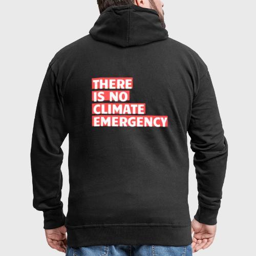 There is no climate emergency - Miesten premium vetoketjullinen huppari
