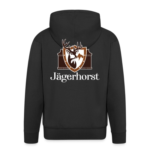 Jägerhorst Logo Weiss - Männer Premium Kapuzenjacke