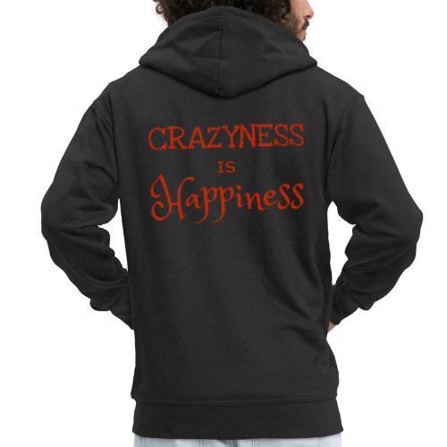 crazyness is hapiness - Männer Premium Kapuzenjacke