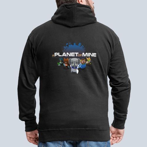 logo planetofmine dark HD - Veste à capuche Premium Homme