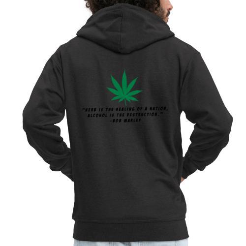 Cannabis - Männer Premium Kapuzenjacke