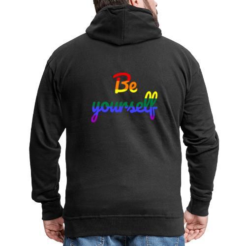 Be yourself - Männer Premium Kapuzenjacke