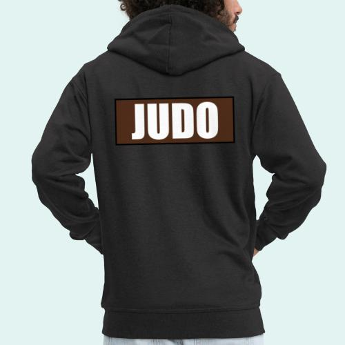 Judo Braun 1. Kyu - Männer Premium Kapuzenjacke