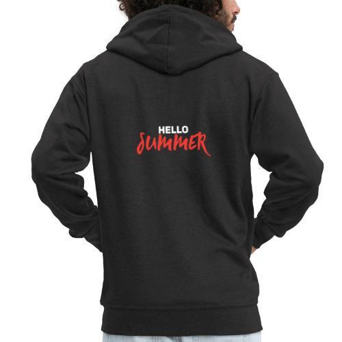 Hello Summer - Männer Premium Kapuzenjacke