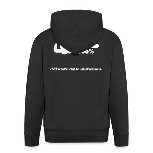 Idraulico 100% Logo XL BIANCO - Felpa con zip Premium da uomo