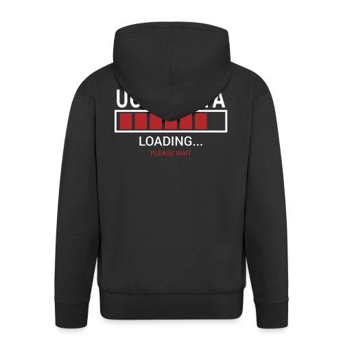 Uchi Mata Loading... pleas Wait - Rozpinana bluza męska z kapturem Premium