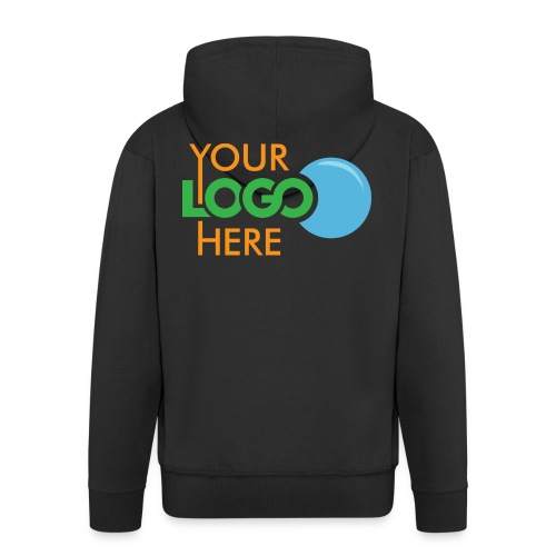 Your Logo Here - Men's Premium Hooded Jacket