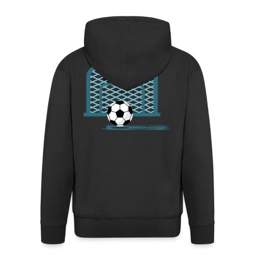 Fußball vor Tor - Männer Premium Kapuzenjacke