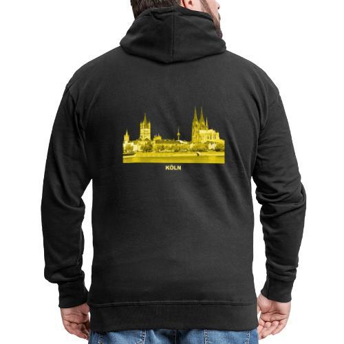Köln Dom Rhein Nordrhein-Westfalen Deutschland - Männer Premium Kapuzenjacke