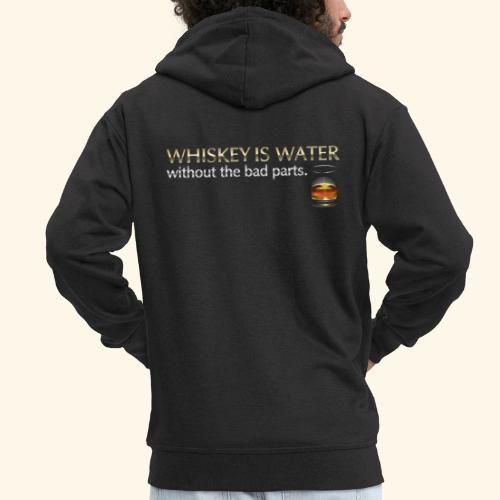 Whiskey T Shirt Whiskey is water - Männer Premium Kapuzenjacke
