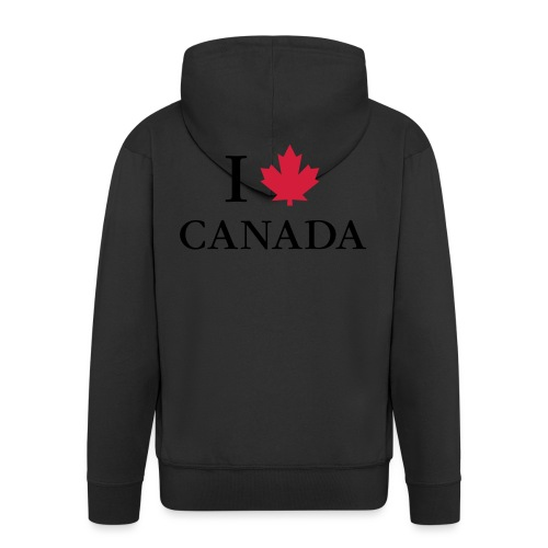 I love Canada Ahornblatt Kanada Vancouver Ottawa - Männer Premium Kapuzenjacke